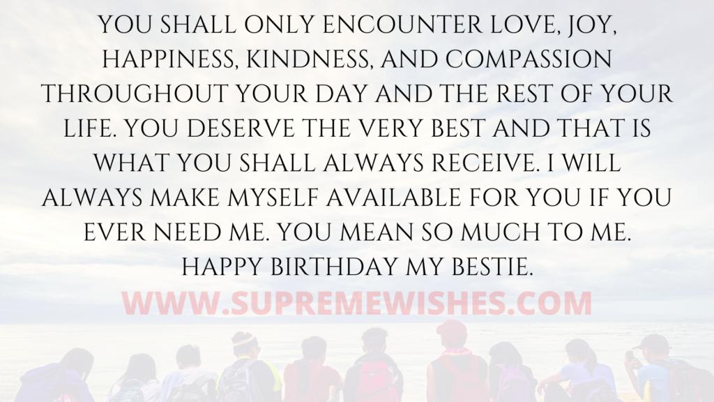 best friend best birthday