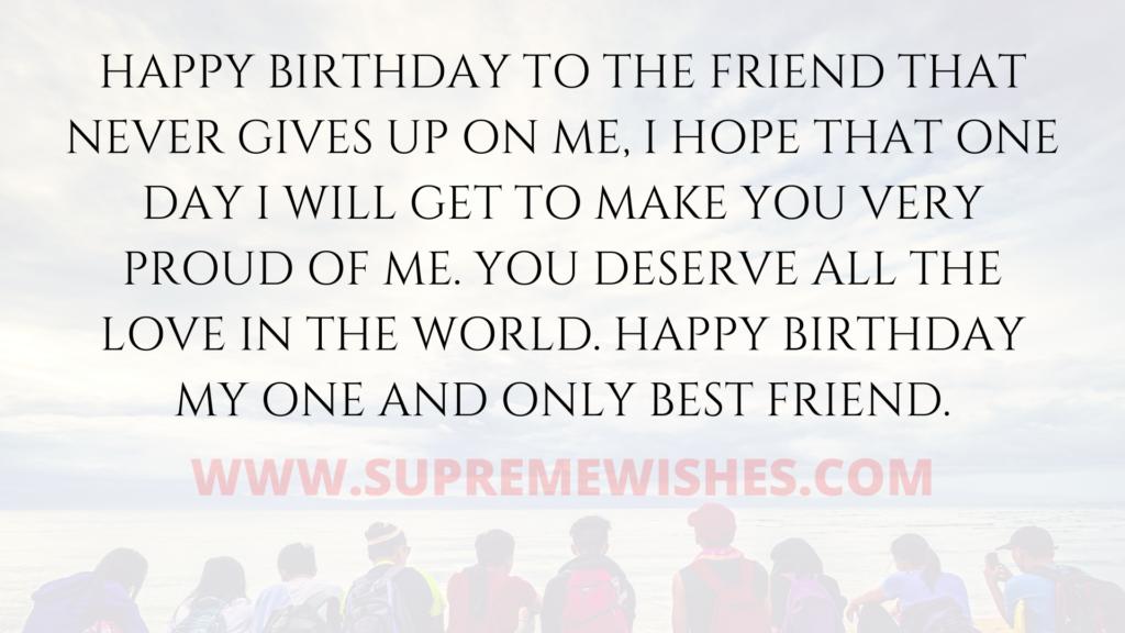 Happy Birthday bestie greetings
