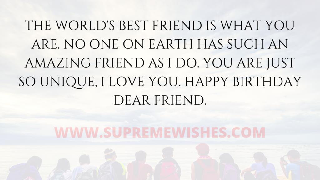 friend best wishes