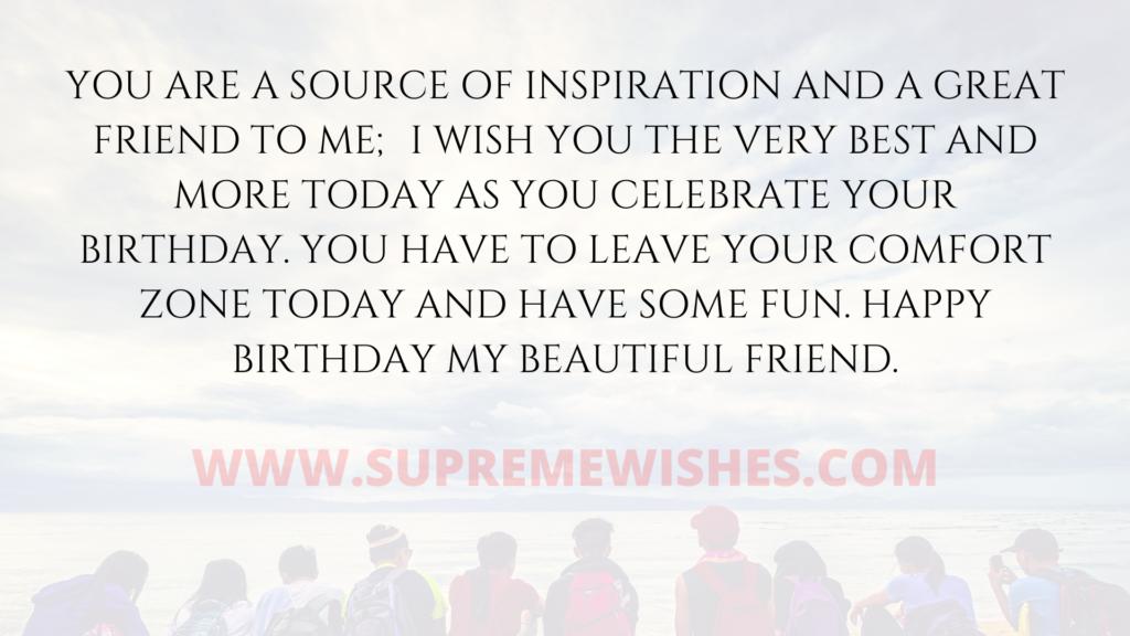 my best friend wish for birthday