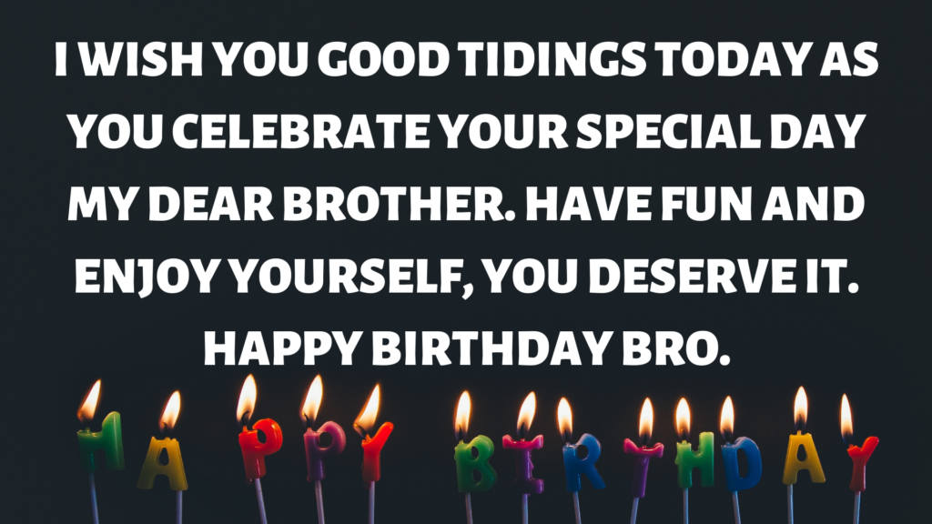 Happy Birthday Bro (Wishes/Messages).