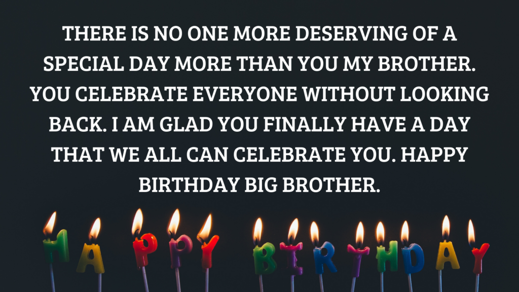 Happy Birthday Big Brother Wishes