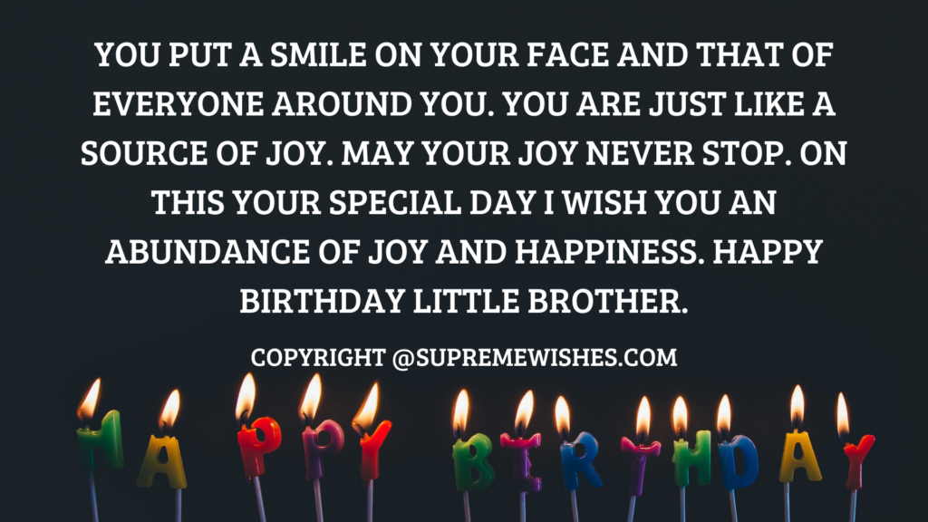 Happy Birthday Little Brother Wishes, Greetings, Messages