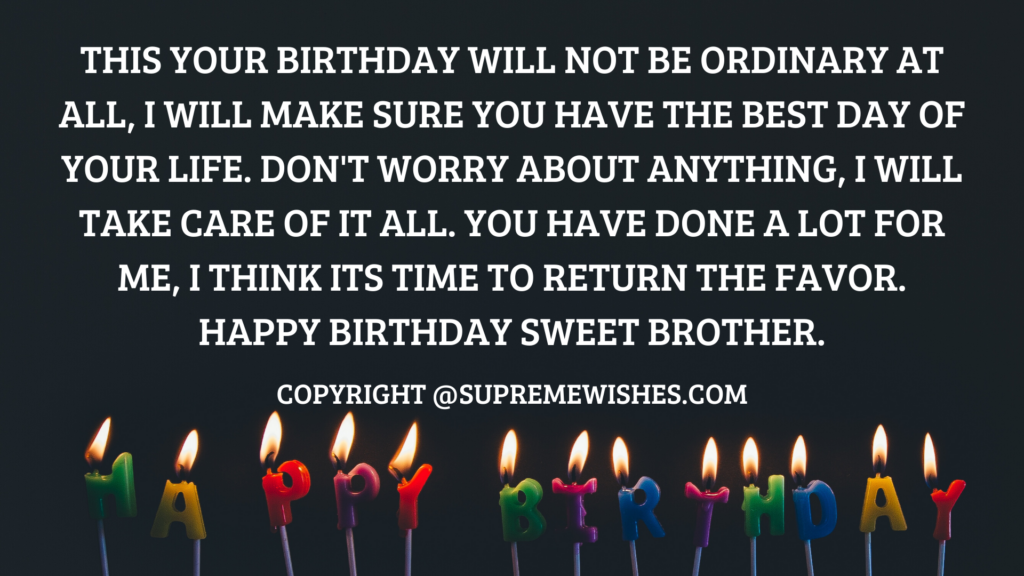 Quotes For Brother Wishes