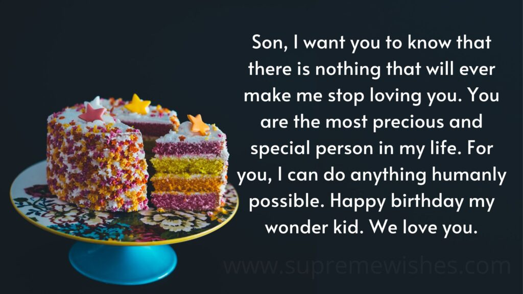 Happy Birthday Son from mom