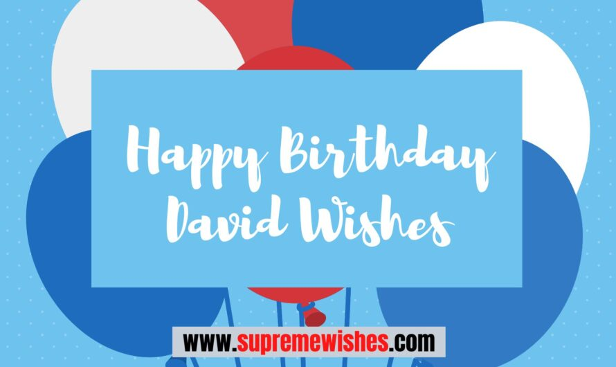 Beautiful Happy Birthday David Wishes | With Images