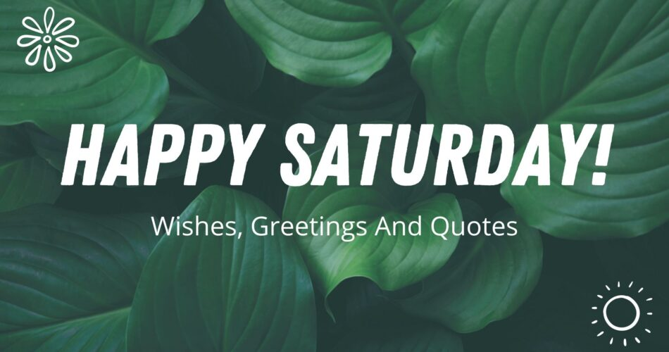 happy saturday good morning wishes
